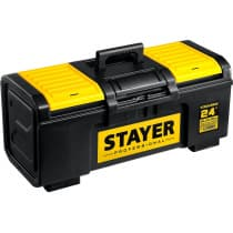 Ящик для инструмента TOOLBOX-24 STAYER 590 х 270 х 255, пластиковый 38167-24 Professional